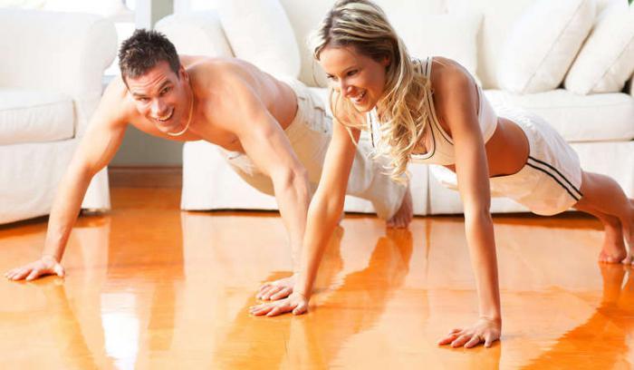 домашний комплекс физических упражнений для похудения