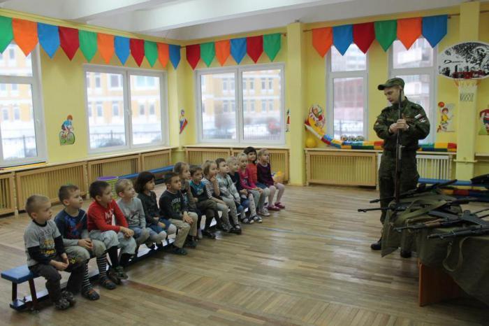 знакомство с родами войск в детском саду