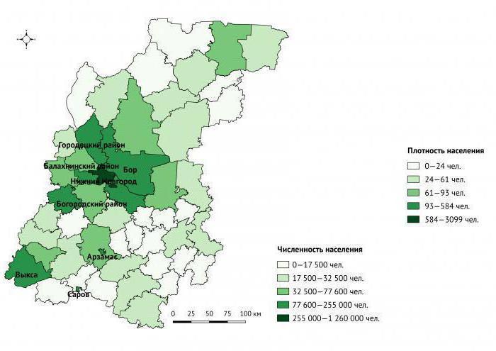 средняя плотность населения нижегородской области