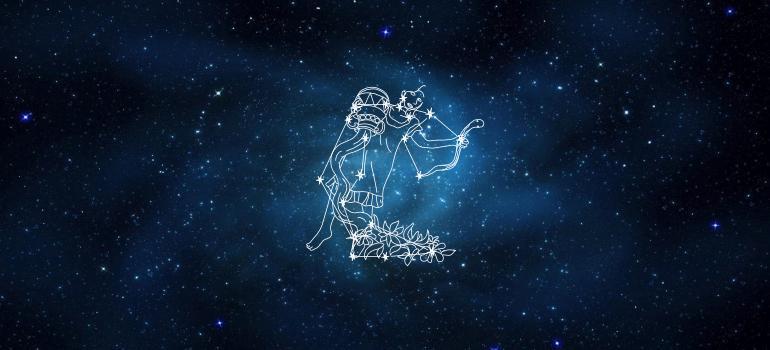 Звездное небо рисунок созвездия водолей, картинки юмором
