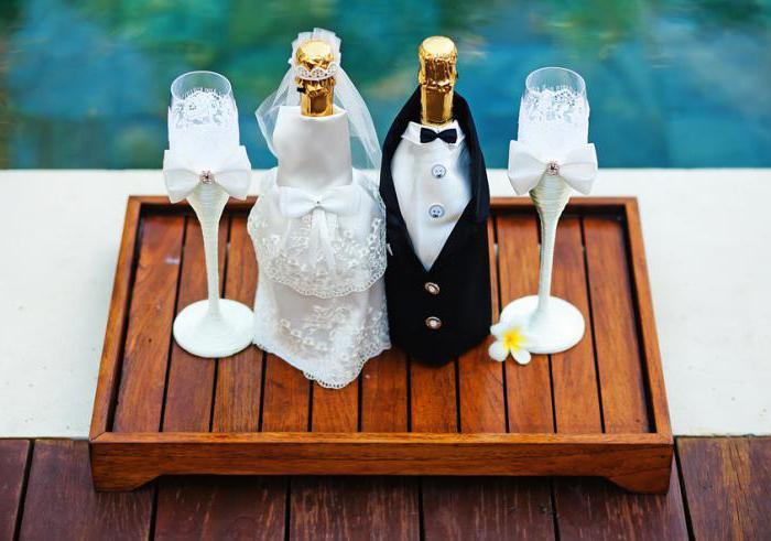 бутылка на свадьбу