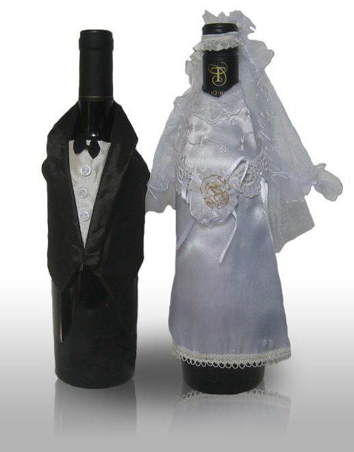 бутылки шампанского на свадьбу своими руками