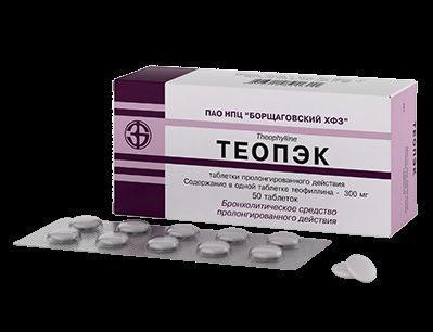 теопэк 300 мг инструкция по применению - фото 2