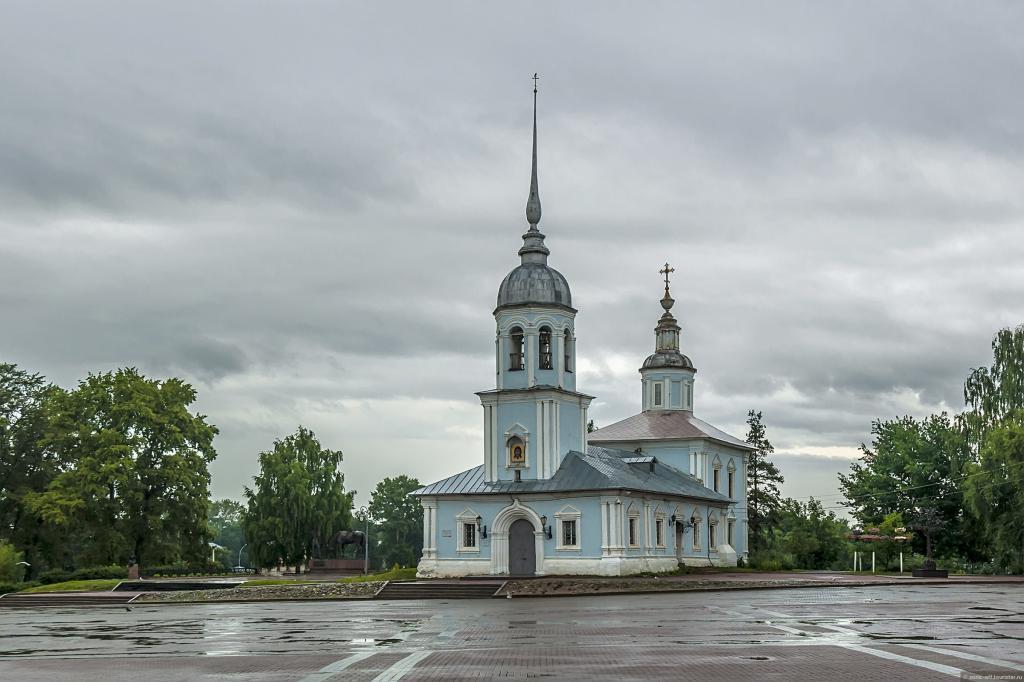 Rainy day temple