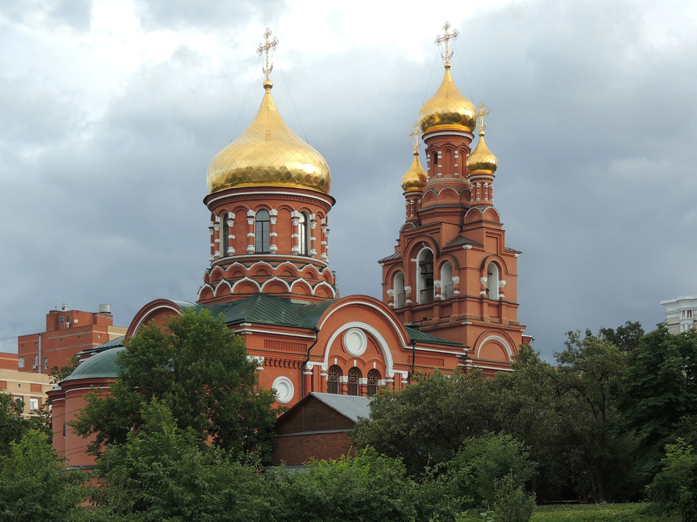 Golden monastery domes