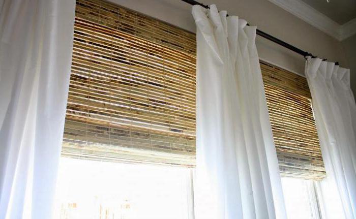 бамбуковые рулонные шторы как крепить