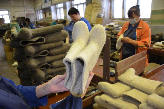 фабрика по производству валенок
