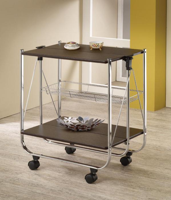столик сервировочный раскладной на колесиках