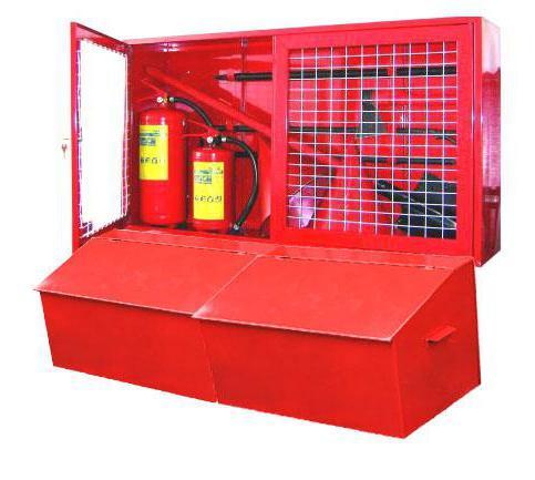 пожарный щит комплектация
