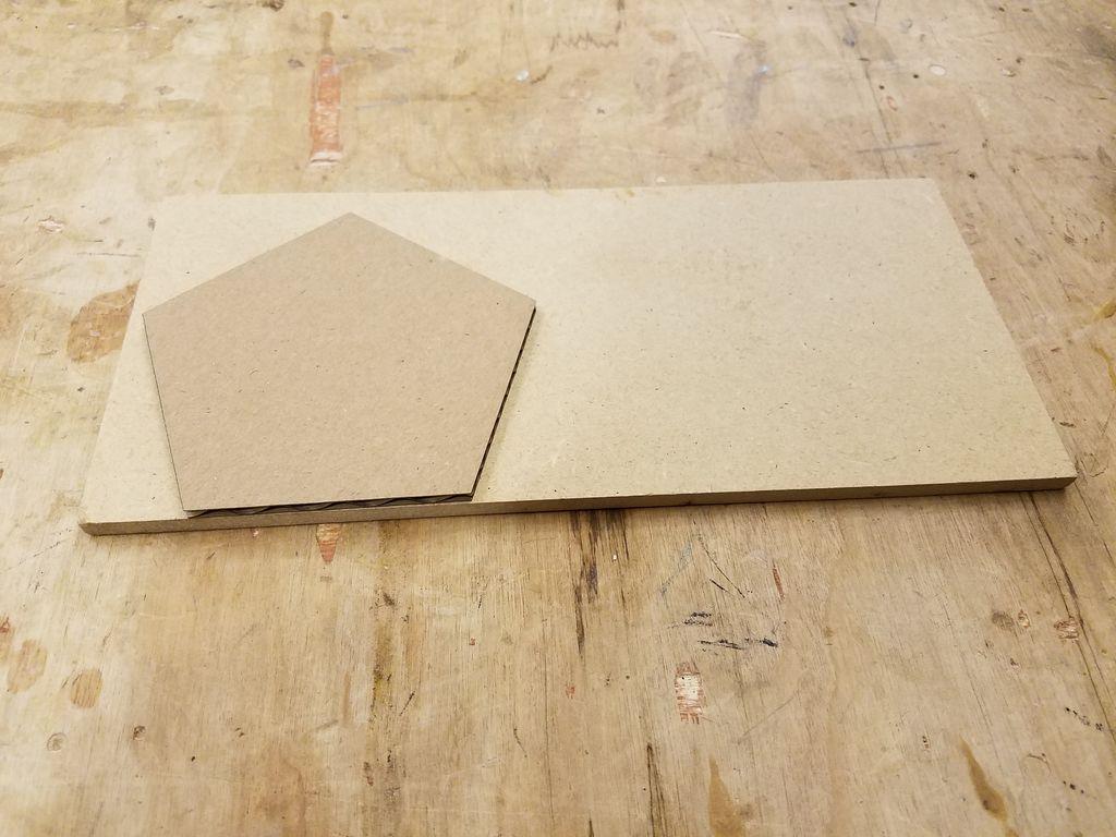 do-it-yourself cardboard backing