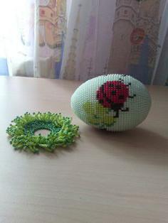плетение яйца из бисера