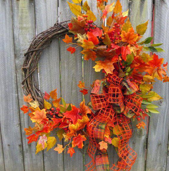 Экибана из листьев своими руками Осень: творческие идеи