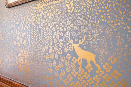 Wallpaper silk-screen printing for walls - photo