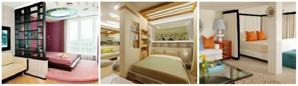 Modern living room-bedroom interior