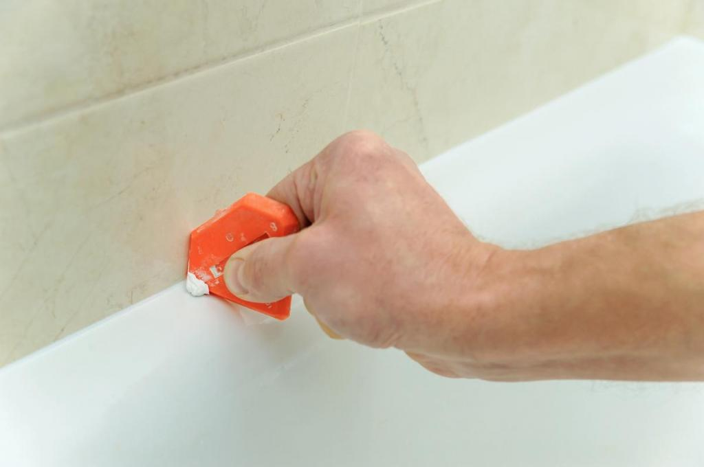 how to wash silicone from the bath