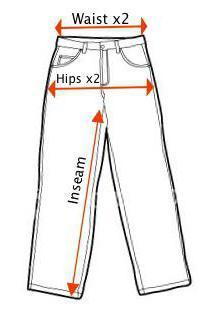 как узнать размер брюк мужских