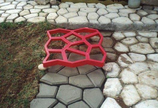форма опалубка для садовой дорожки