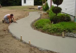 состав бетона для садовых дорожек своими руками