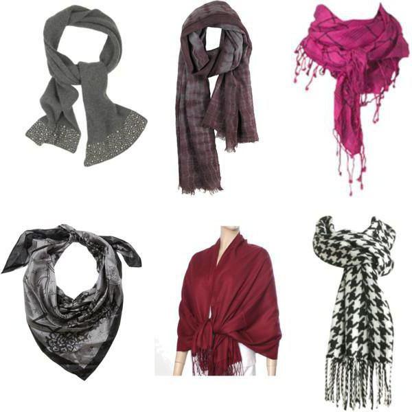шарфы платки на шею