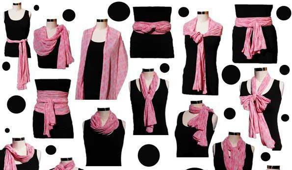 как завязать платки стильно и краиво