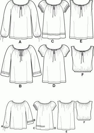 сшить платье крестьянка