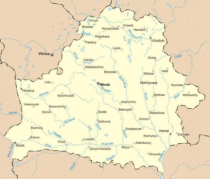 Географическое положение реки Вилия