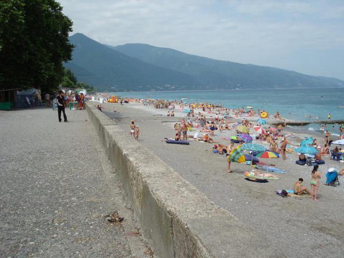 Пляжи Новой Гагры