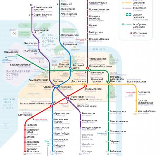 метро санкт петербурга схема метро