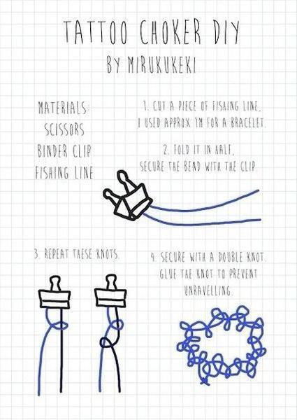 Как сделать на шею чокер