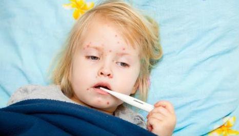 у ребёнка сыпь и температура