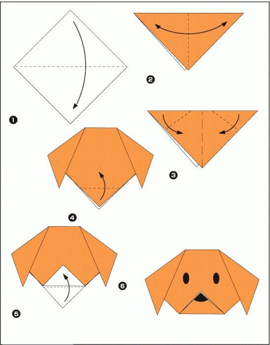 оригами для детей 4 5 лет схемы