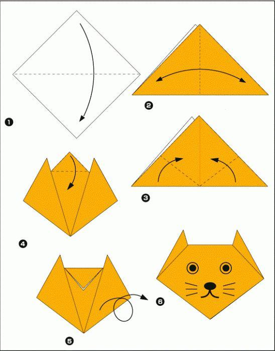 Схема оригами для детей 4 года