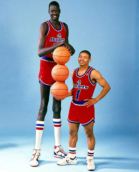 Manute Ball and Maxi Bogs