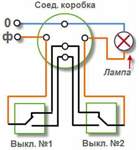 одноклавишный выключатель с подсветкой схема подключения