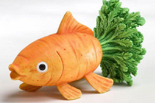 лиса из моркови