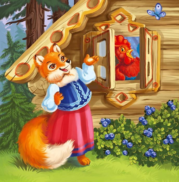 Слушать сказку лиса и кот петух и лиса