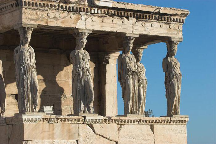 A Caryatid is an architectural element that is popular in any style
