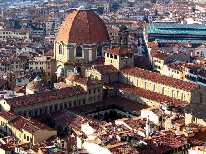 The Medici chapel, Michelangelo: description and photos