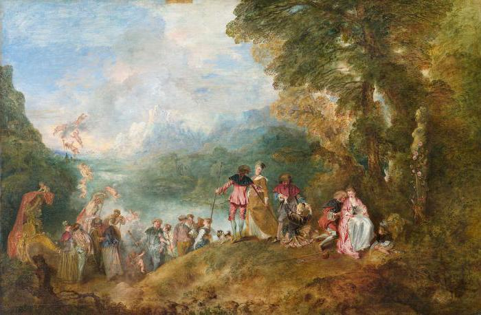 The Paintings Of Watteau. Antoine-Jean opens a new era in painting: the Rococo