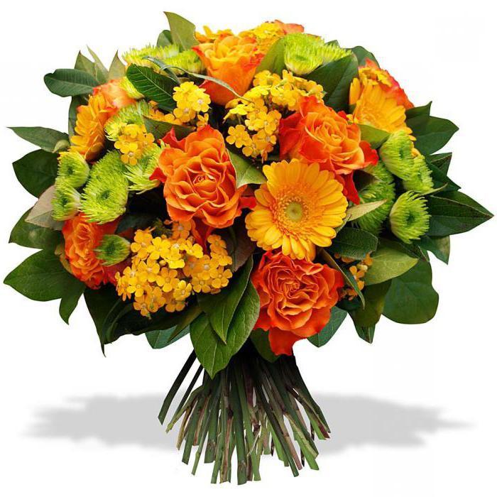 Оранжевые цветы для букетов, доставка низкие