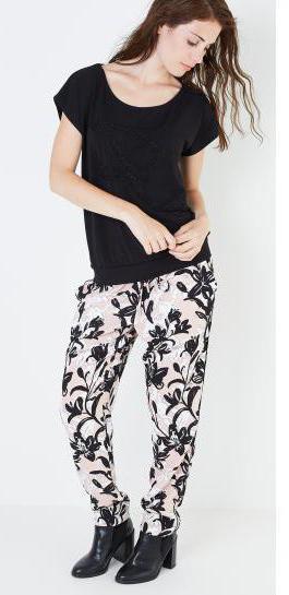 брюки с цветочным принтом с чем правильно сочетать