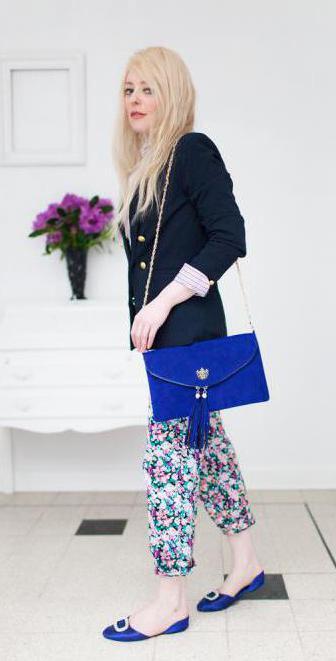 джинсы и брюки с цветочным принтом с чем носить