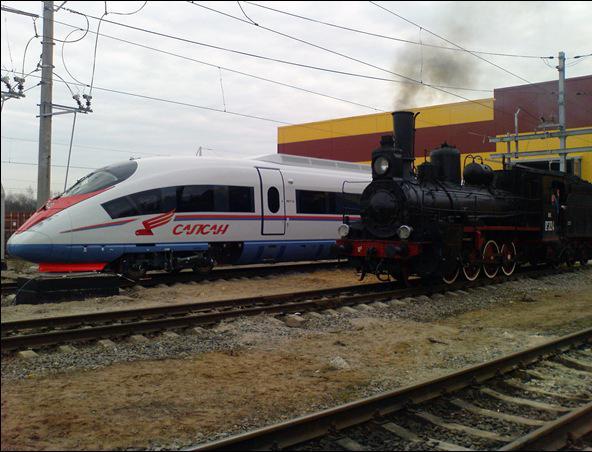 Поезда активно эксплуатируются