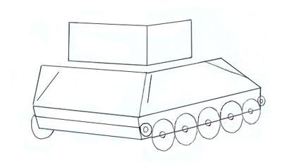 как нарисовать танк т 34 85 карандашом поэтапно