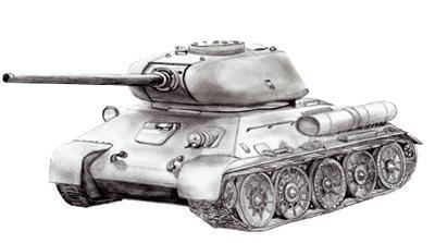 как поэтапно нарисовать танк т34