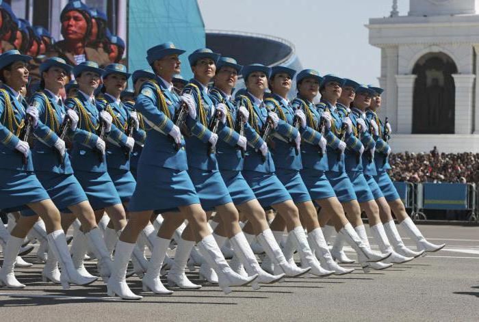 праздник День защитника отечества в Казахстане