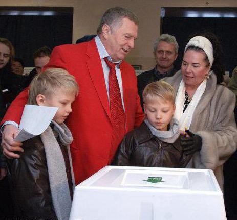 жириновский дети и внуки