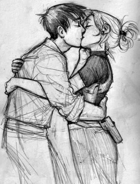 как нарисовать поцелуи