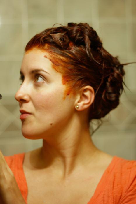 рыжая краска для волос палитра