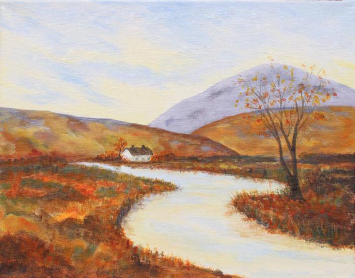Рисуем красками поэтапно для начинающих пейзаж поэтапно